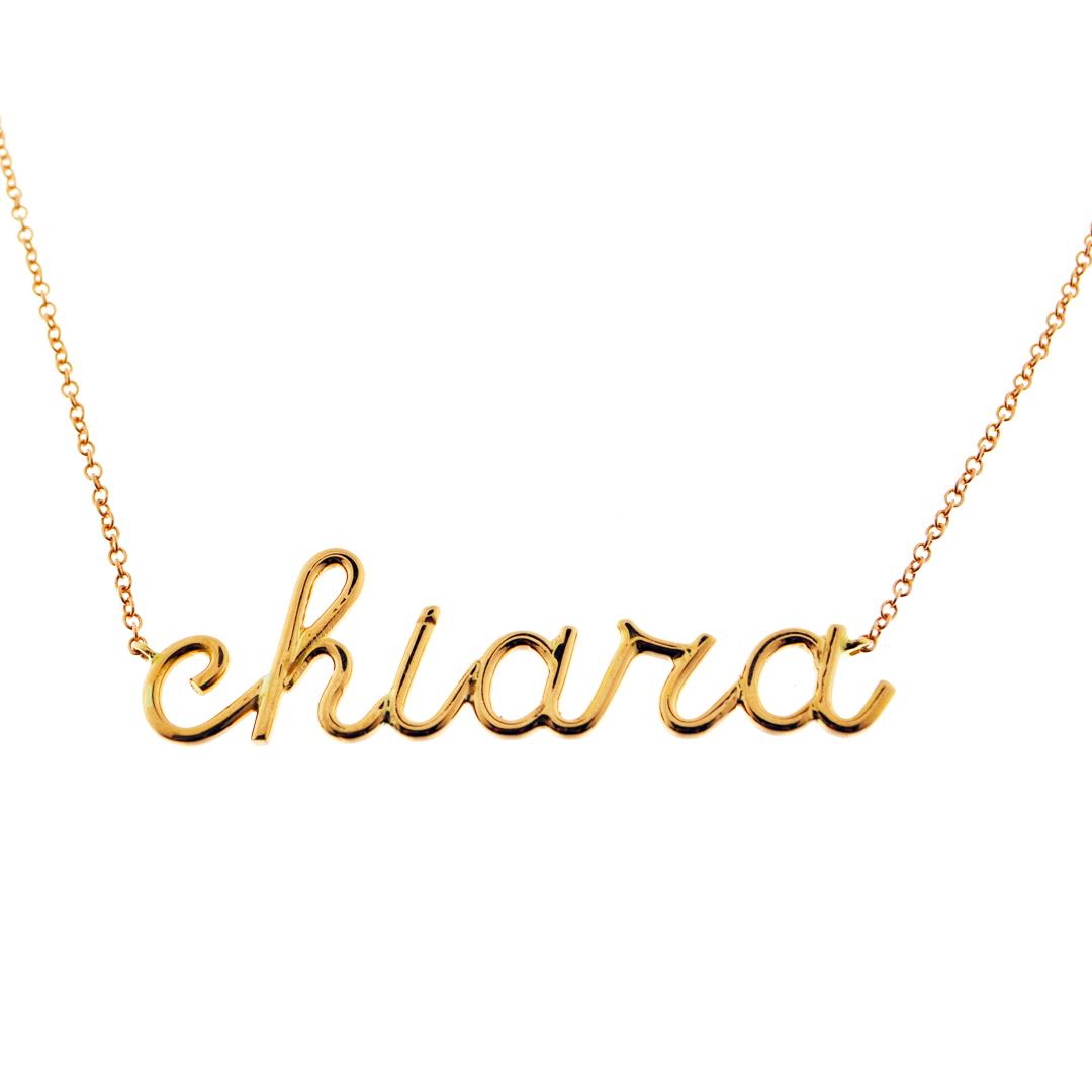 più amato 24115 578fe collana in oro con nome personalizzabile